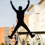 person jumping high