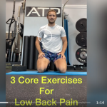 person kneeling to describe core exercises for low back pain