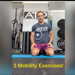 person kneeling demonstrating mobility exercises for the low back
